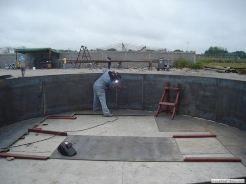 Fabricación de manto de Tanque Elevado