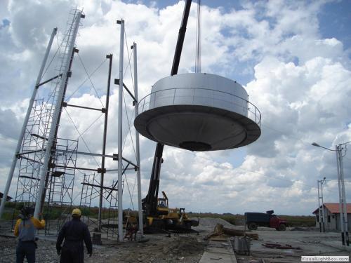 montaje de tanque elevado